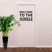 Adesivo de Porta Bem vindo - Welcome to The Jungle