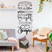 Adesivo Decorativo de Parede Frase Regras da Família