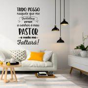 Adesivo Decorativo de Parede Salmo o Senhor é Meu Pastor