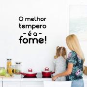 Adesivo Decorativo Frase O Melhor Tempero é a Fome Geladeira Cozinha