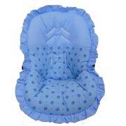 Capa Para Bebê Conforto Coroa Azul 100% Algodão