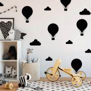 Kit de Adesivos de Parede Balões e Nuvens