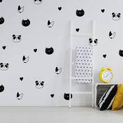 Kit de Adesivos Gato, Urso e Cachorro