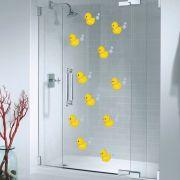 Kit de Adesivos Patinhos Banheiro