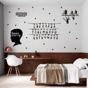 Kit de Adesivos Stranger Things Eleven Alfabeto ABC Série