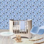 Papel de Parede Adesivo Fosco Ovelhinhas Baby Azul Kanto Store
