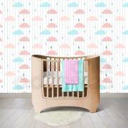 Papel de Parede Adesivo Nuvens Coloridas Quarto Bebê