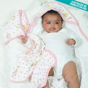 Toalha de Banho Fralda Soft Premium Bebê Hipoalergênico com Capuz