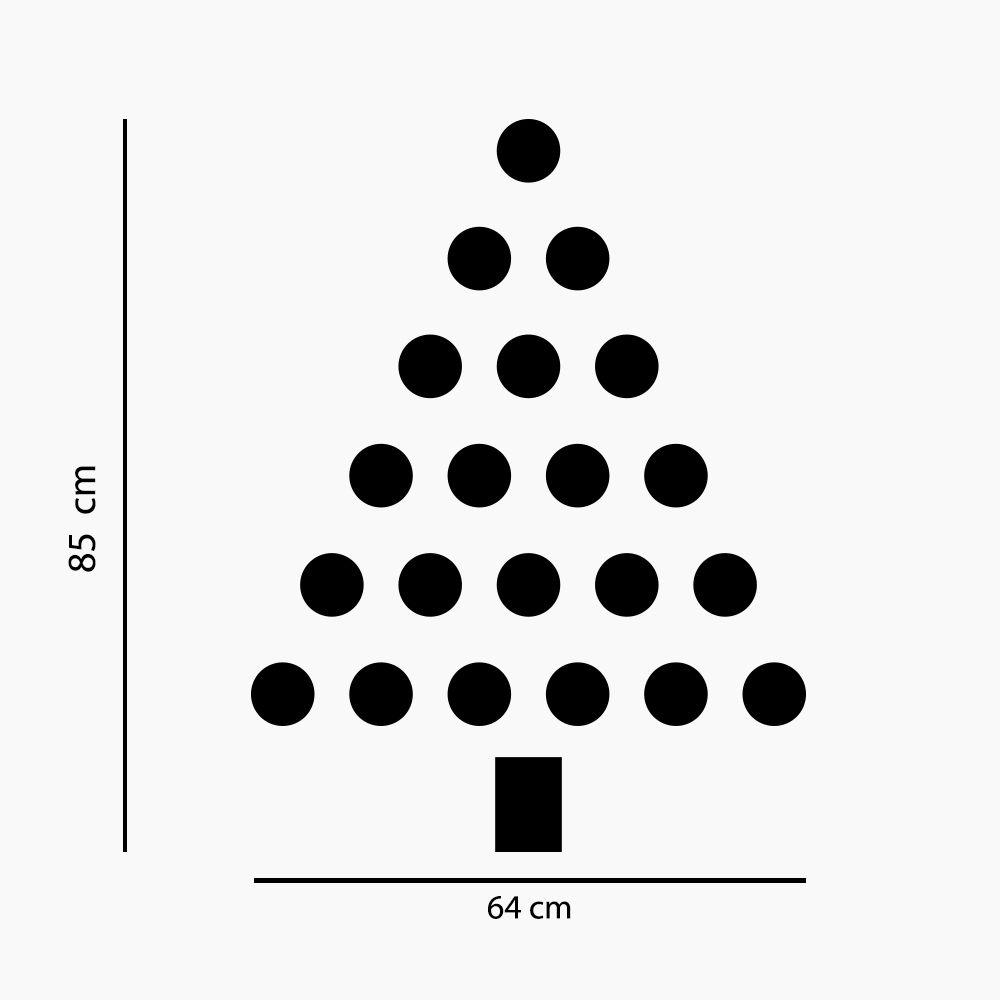 Adesivo de Parede Árvore de Natal Bolinhas Verde
