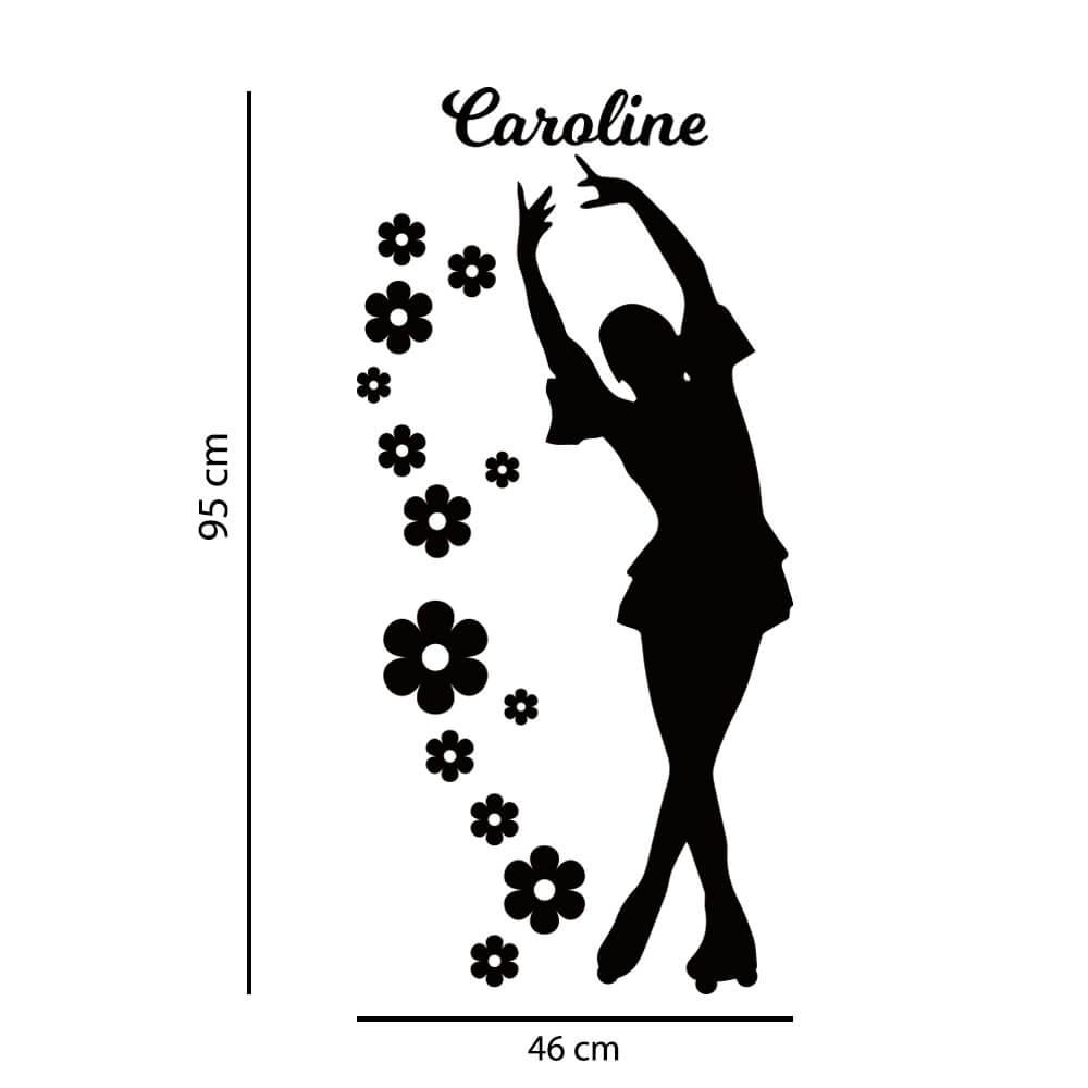 Adesivo de Parede Bailarina Nome Personalizado