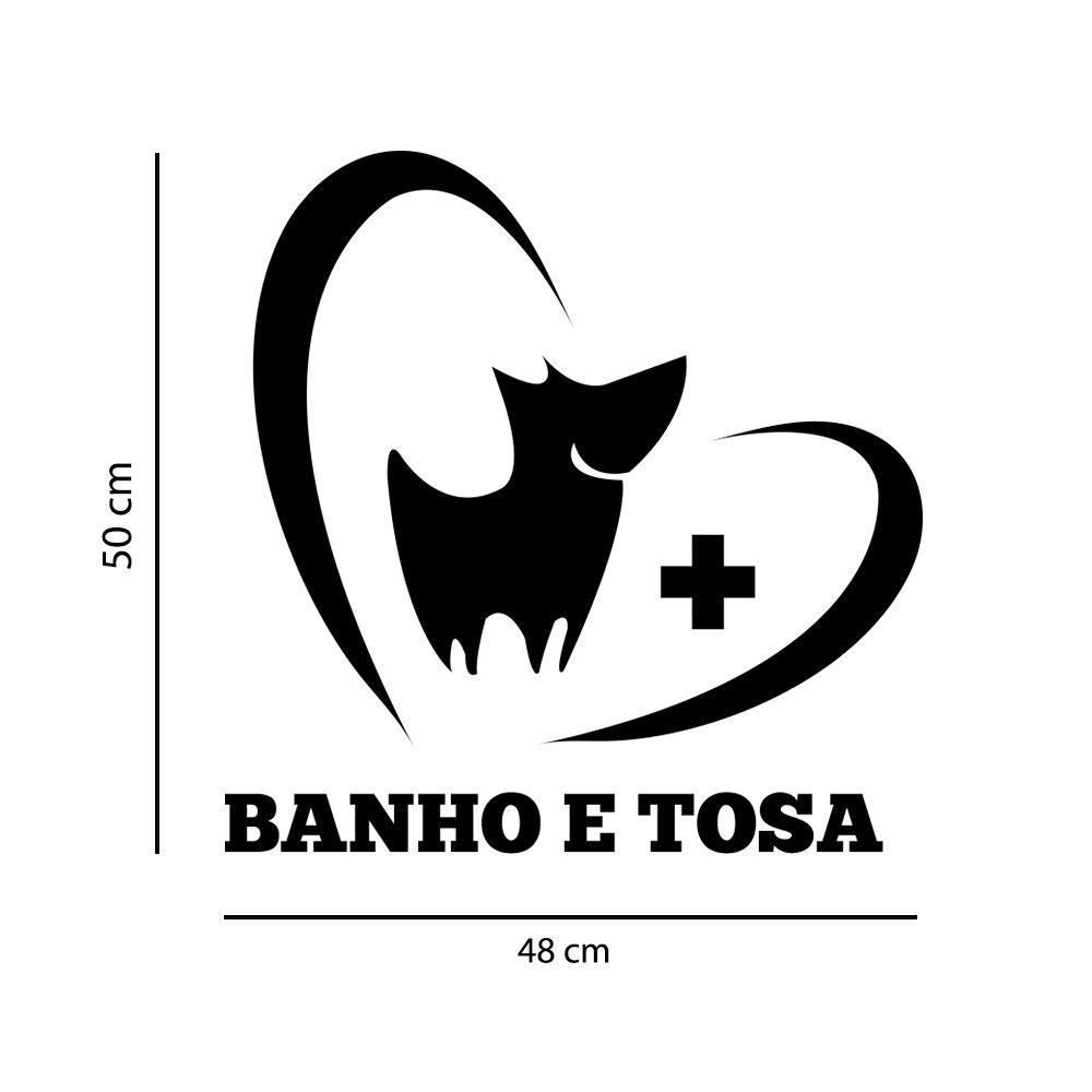 Adesivo de Parede Banho e Tosa Pet Shop Preto