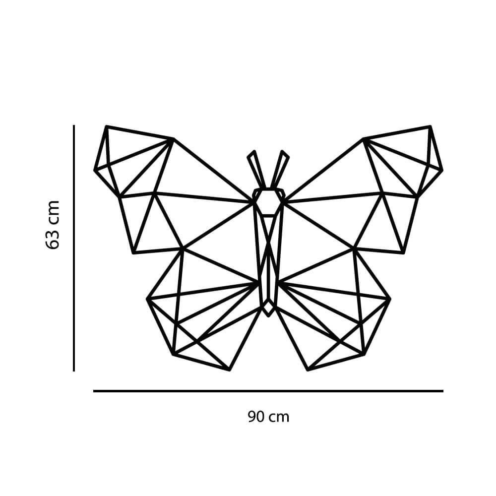 Adesivo de Parede Borboleta Geométrico