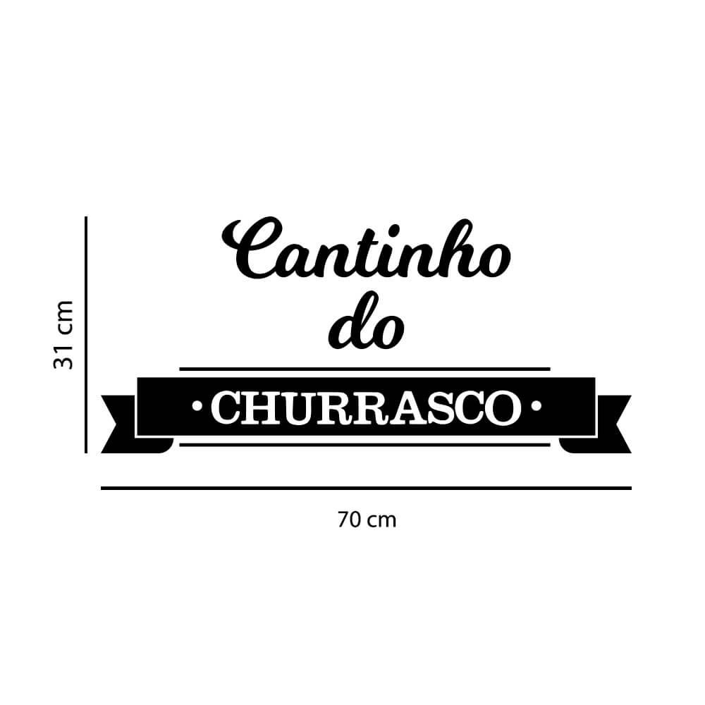Adesivo de Parede Cantinho do Churrasco