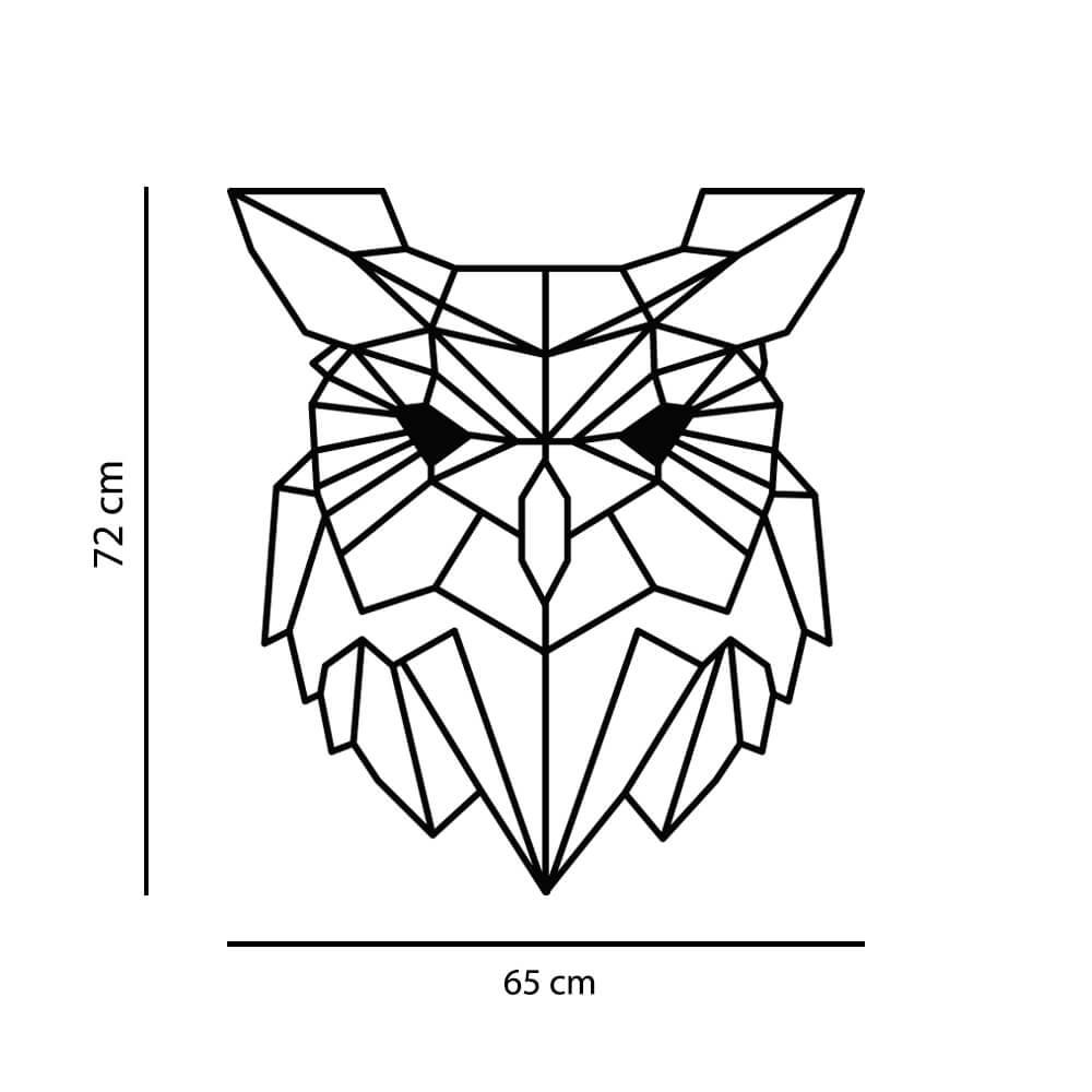Adesivo de Parede Coruja Geométrico