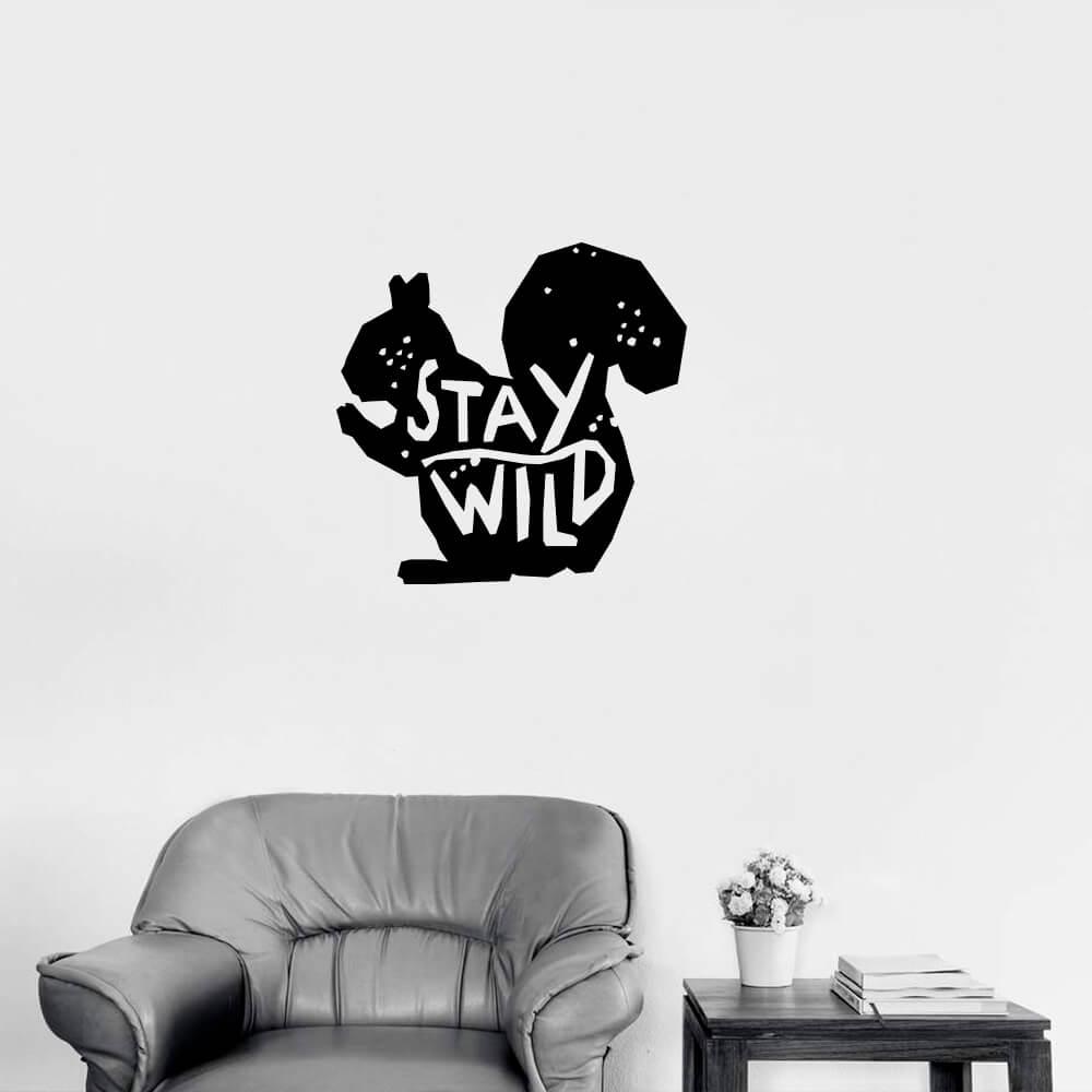 Adesivo de Parede Esquilo Stay Wild