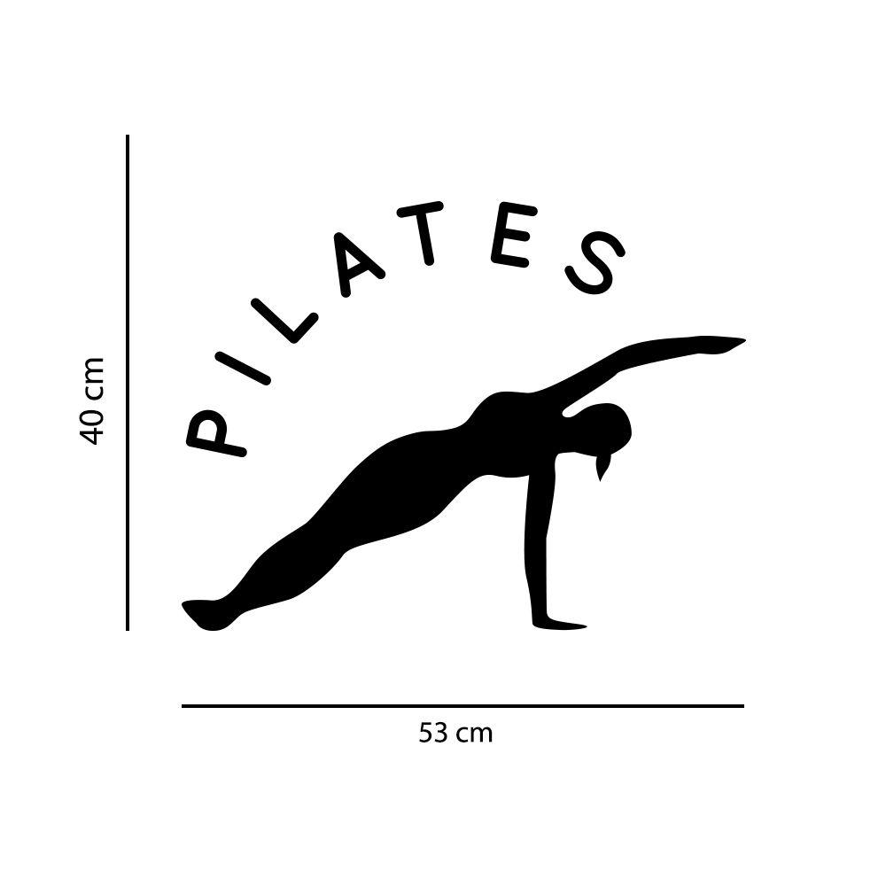 Adesivo de Parede Estúdio Pilates Preto