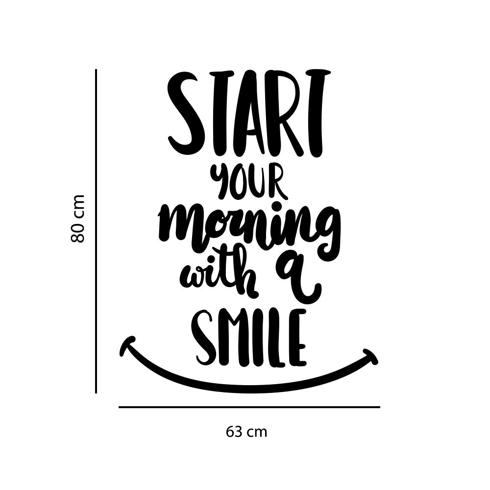 Adesivo de Parede Frase Motivacional Smile