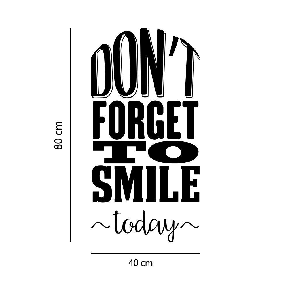 Adesivo de Parede Frase Motivacional Sorria