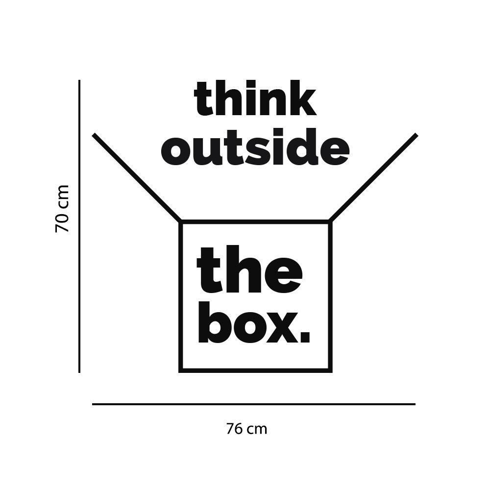 Adesivo de Parede Frase Think Outside the Box