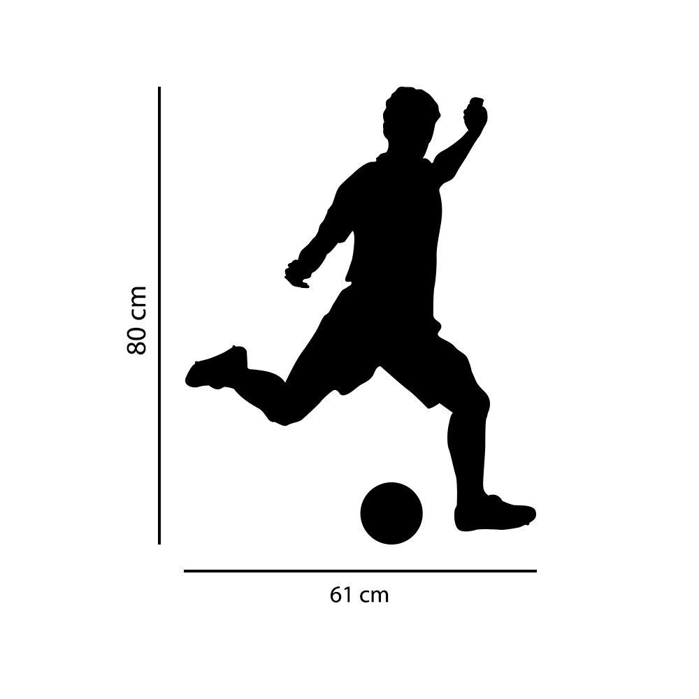 Adesivo de Parede Jogador de Futebol Preto