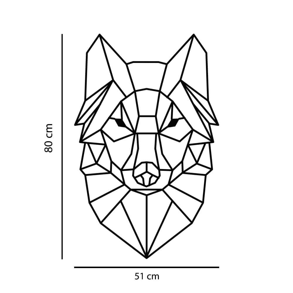 Adesivo de Parede Lobo Geométrico