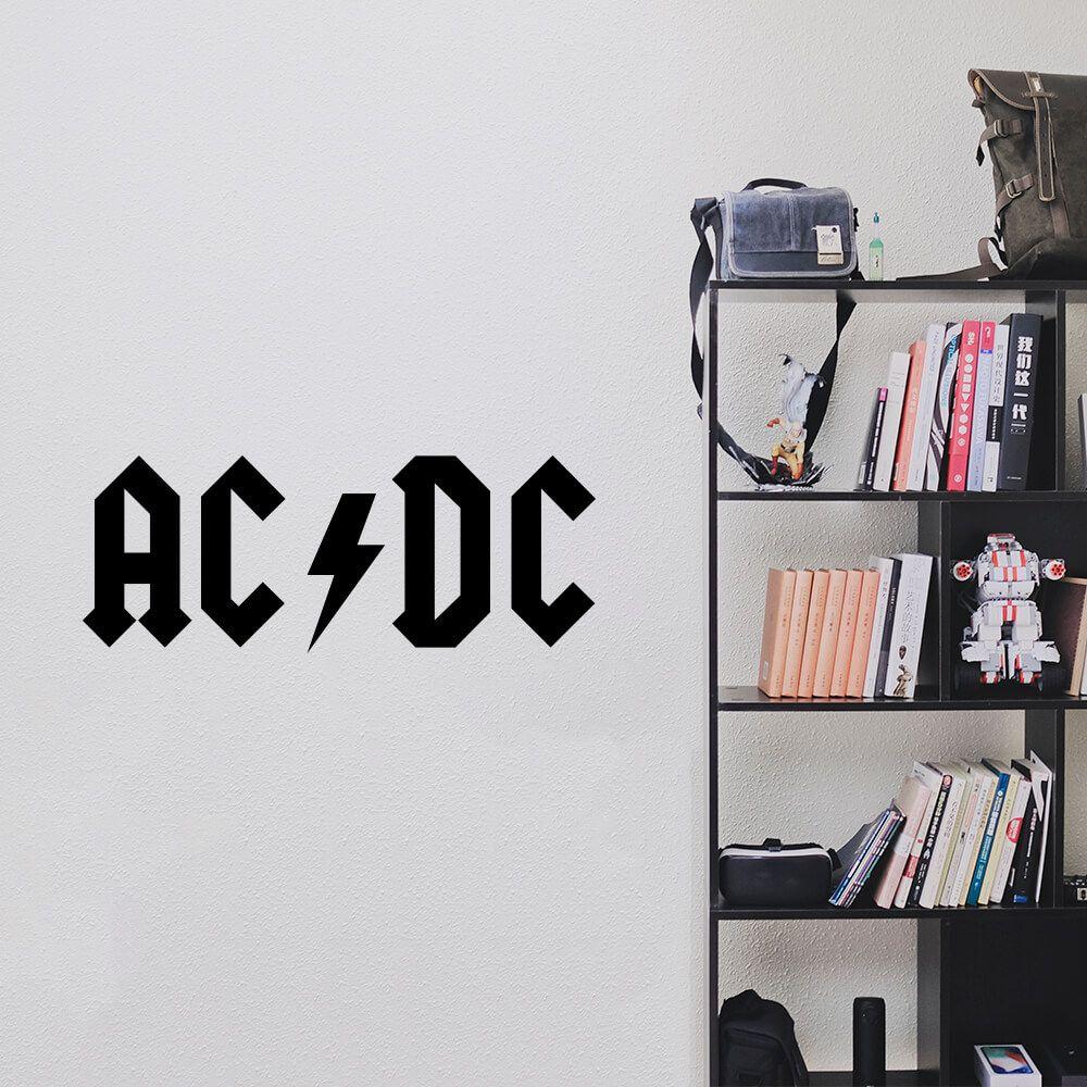 Adesivo de Parede Logo Banda ACDC