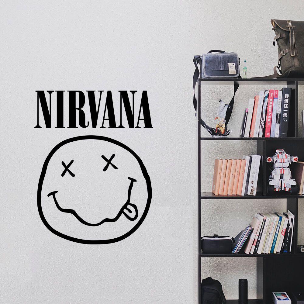 Adesivo de Parede Logo Banda Nirvana Preto