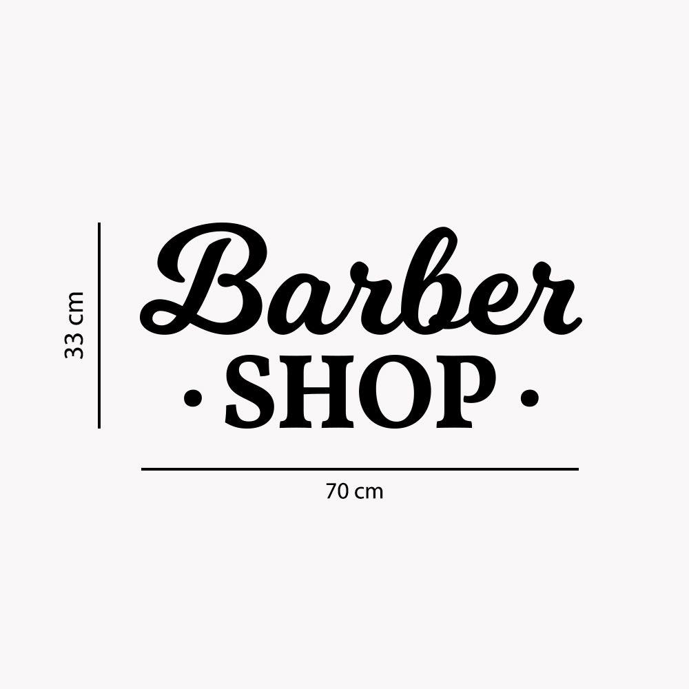 Adesivo de Parede Logo Barbearia Barber Shop Preto
