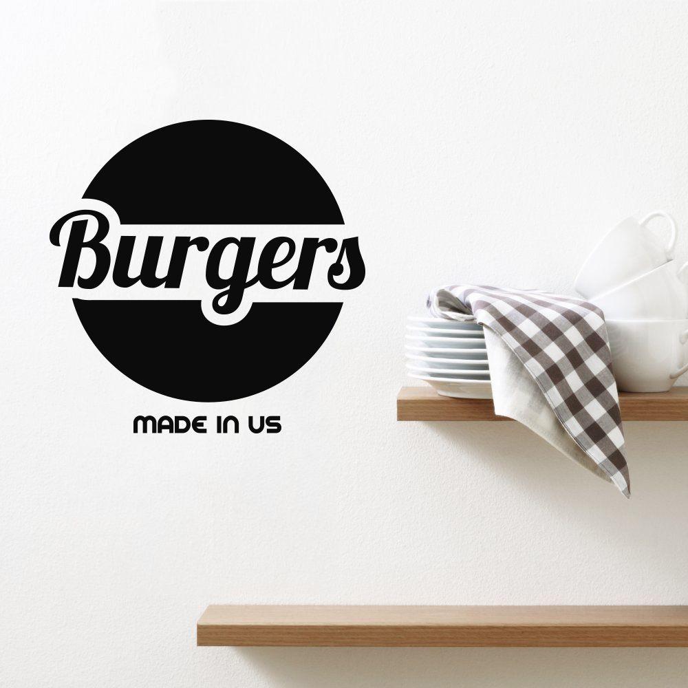 Adesivo de Parede Logo Burgers - Hamburgueria
