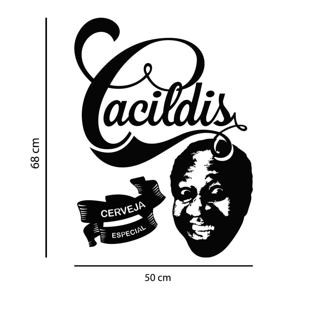 Adesivo de Parede Logo Cacildis
