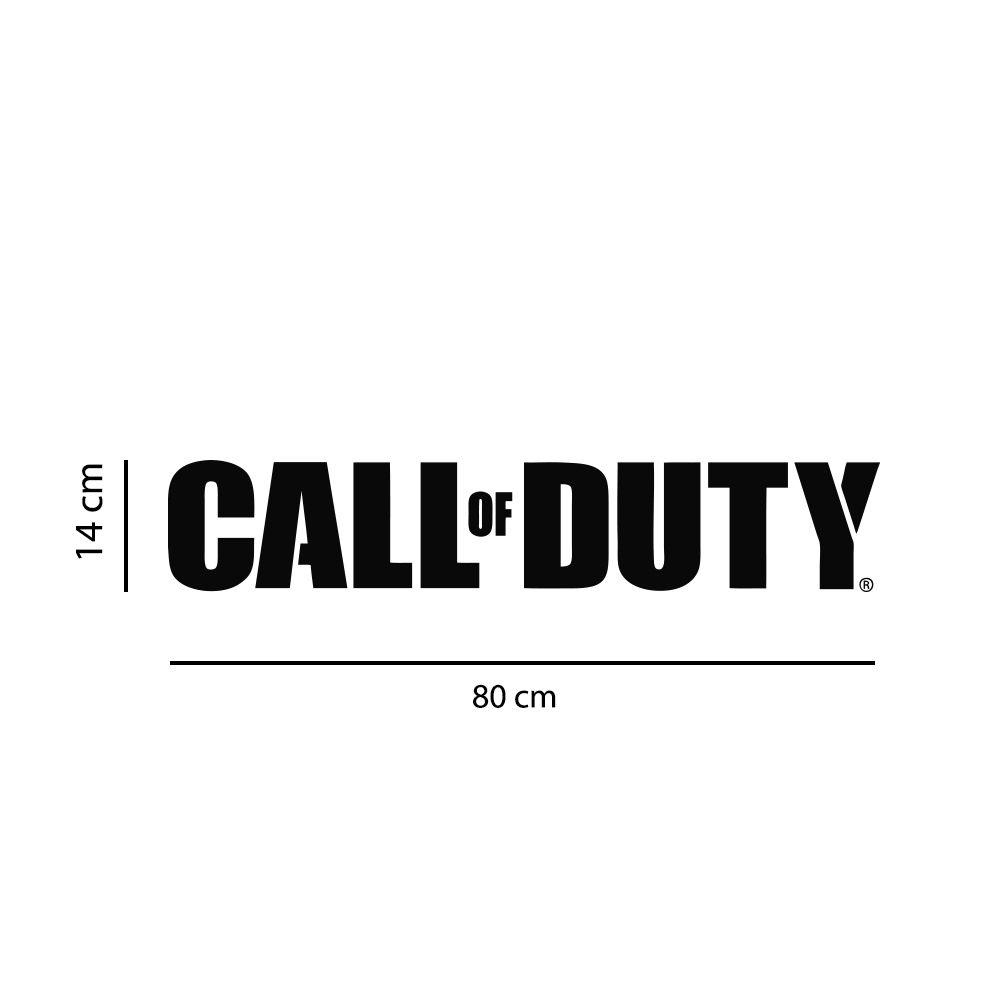 Adesivo de Parede Logo Jogo Call of Duty Preto