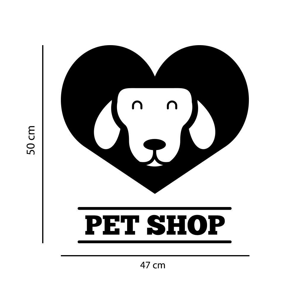 Adesivo de Parede Logo Pet Shop Preto