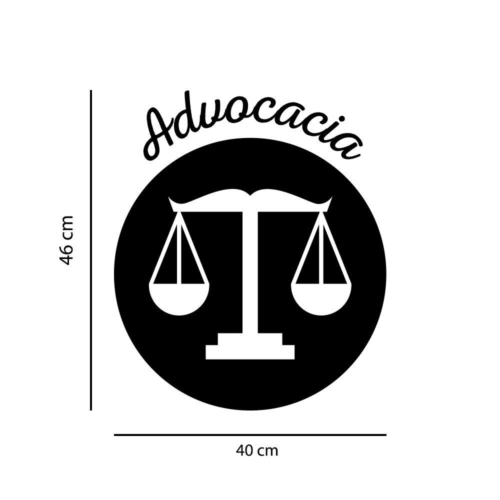 Adesivo de Parede Logo Profissão Advocacia Preto