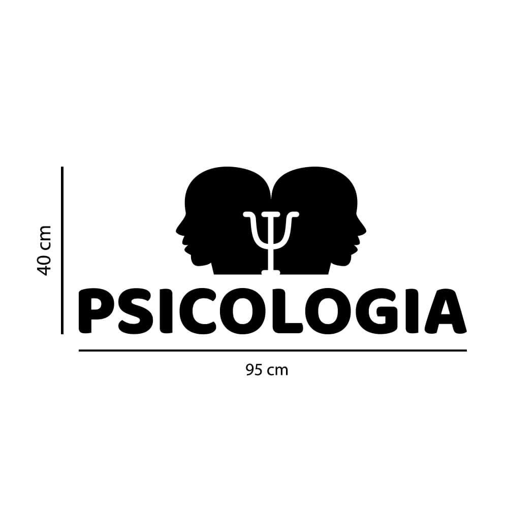 Adesivo de Parede Logo Psicologia
