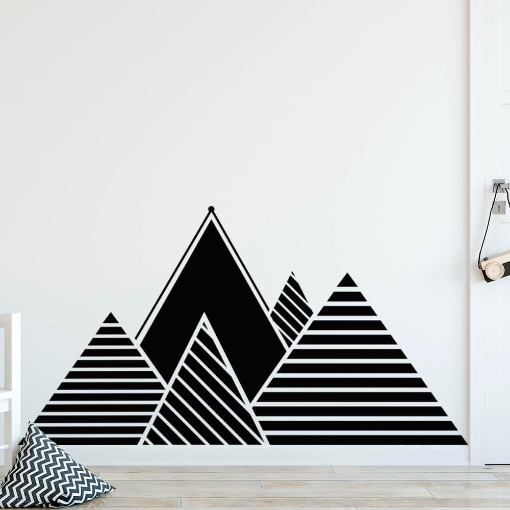 Adesivo de Parede Montanha Triângulos