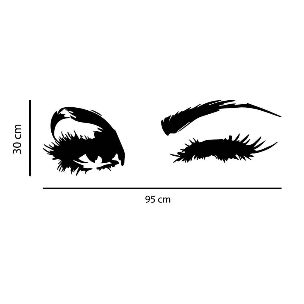 Adesivo de Parede Olhos Piscando