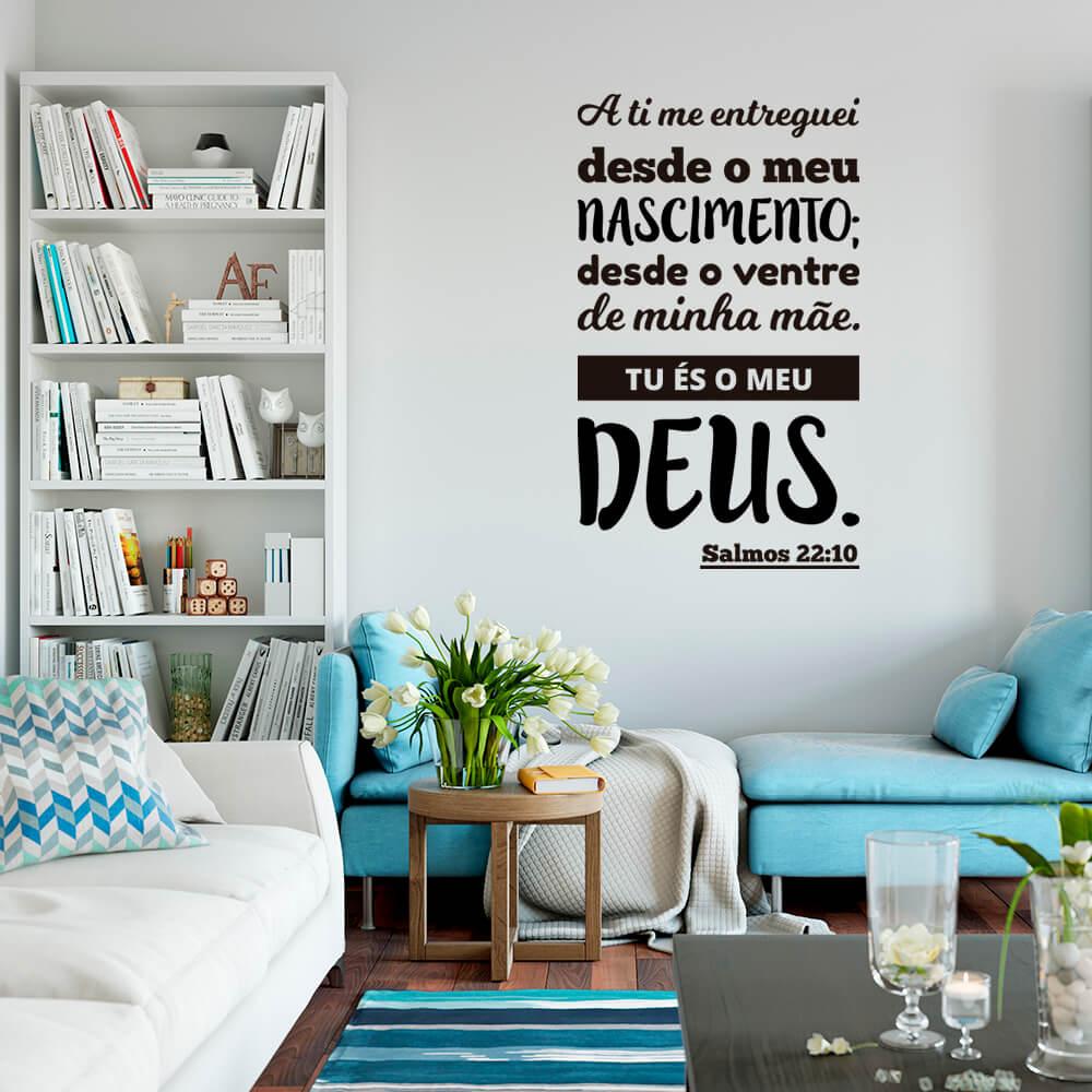 Adesivo de Parede Salmo 22:10
