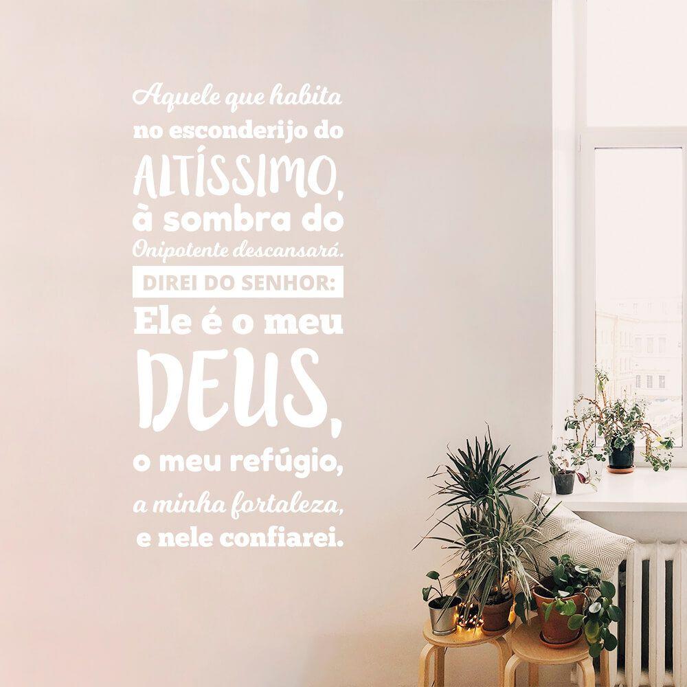 Adesivo de Parede Salmo 91
