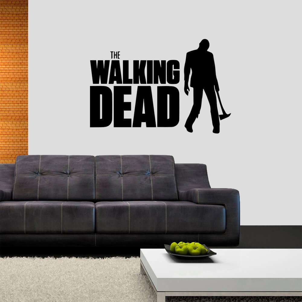 Adesivo de Parede Série The Walking Dead Preto
