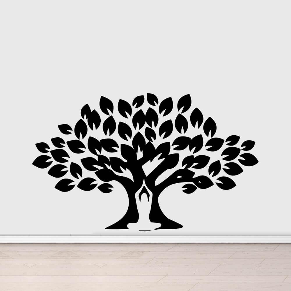 Adesivo de Parede Silhueta Árvore Yoga