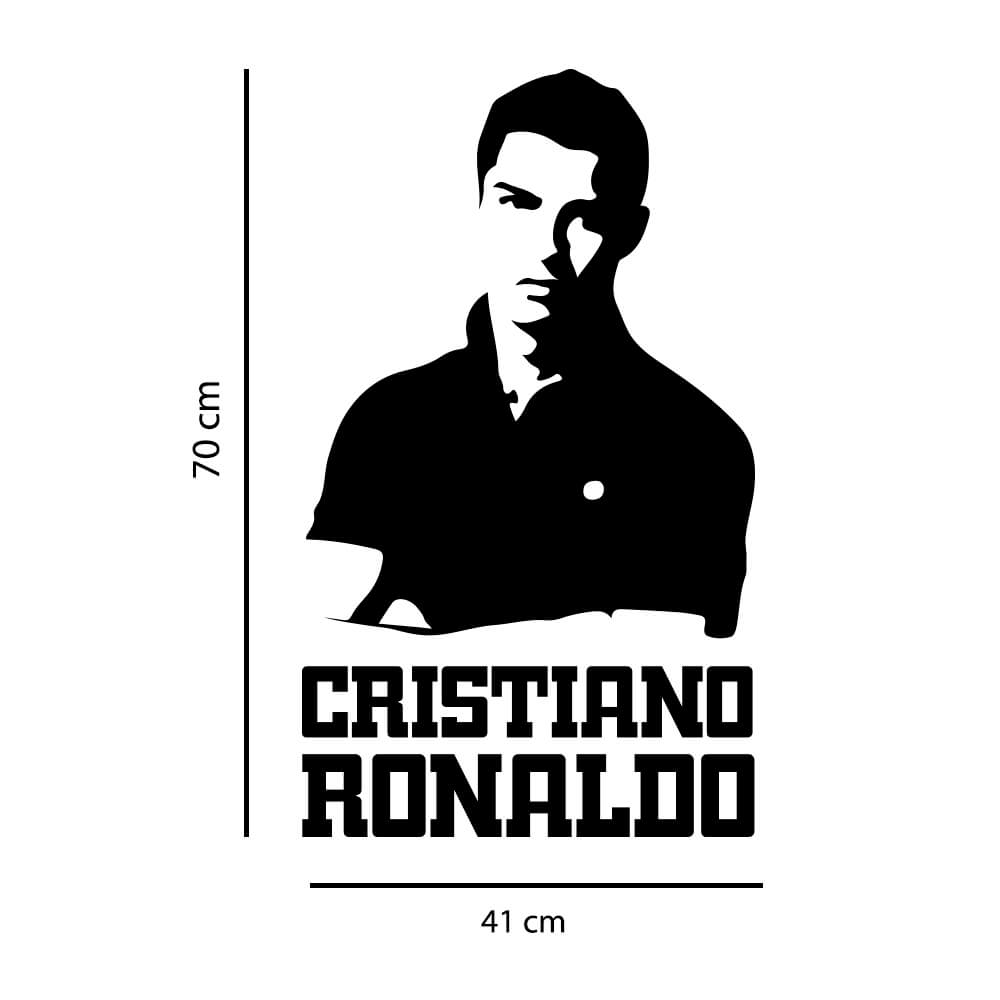 Adesivo de Parede Silhueta Cristiano Ronaldo
