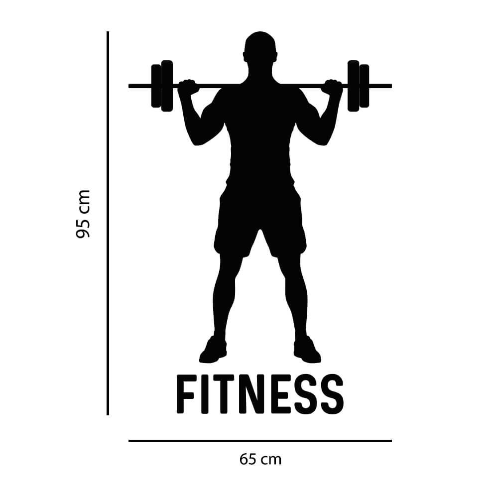 Adesivo de Parede Silhueta Homem Fitness