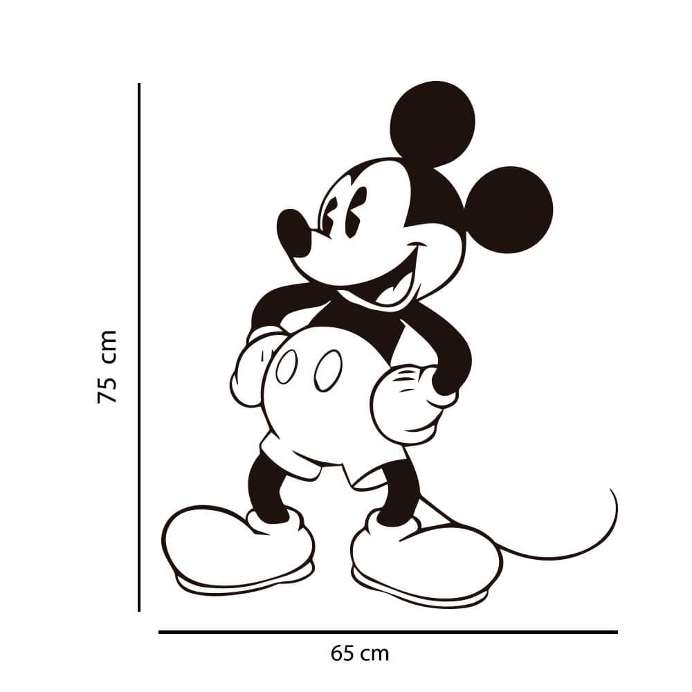 Adesivo de Parede Silhueta Mickey