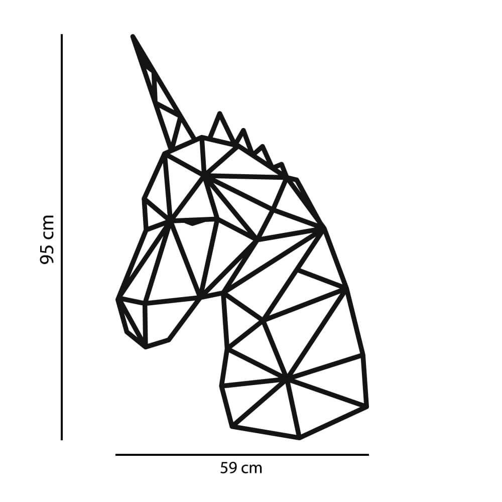Adesivo de Parede Unicórnio Geométrico