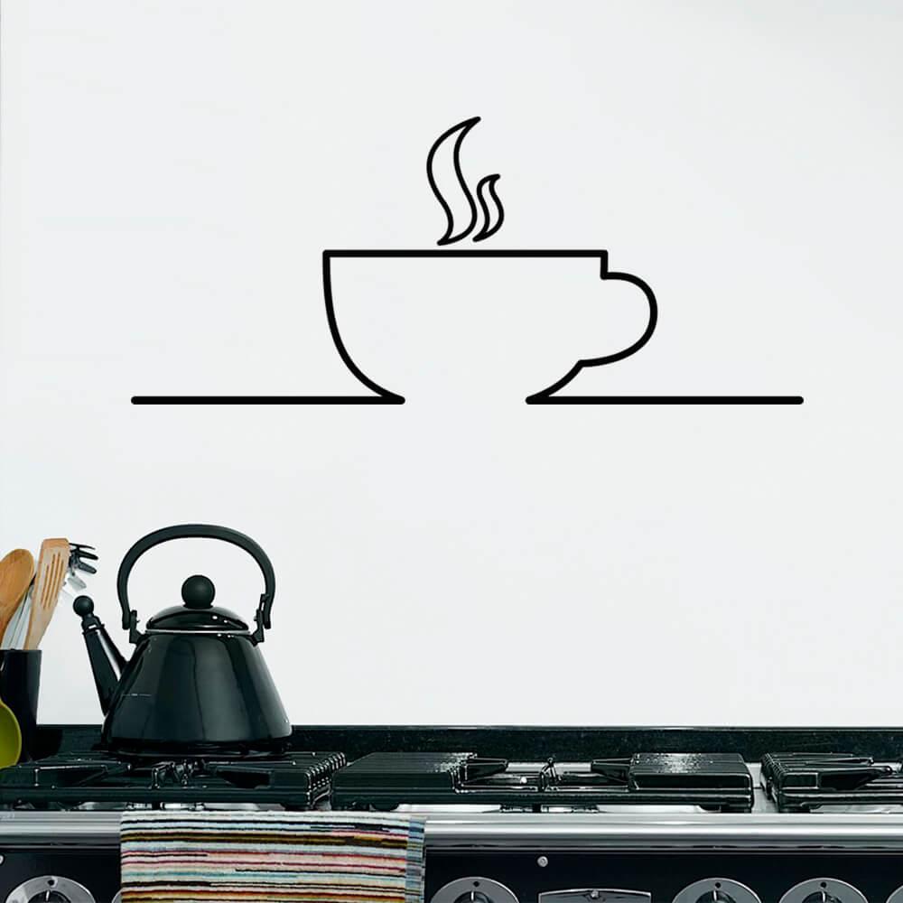Adesivo de Parede Xícara de Café