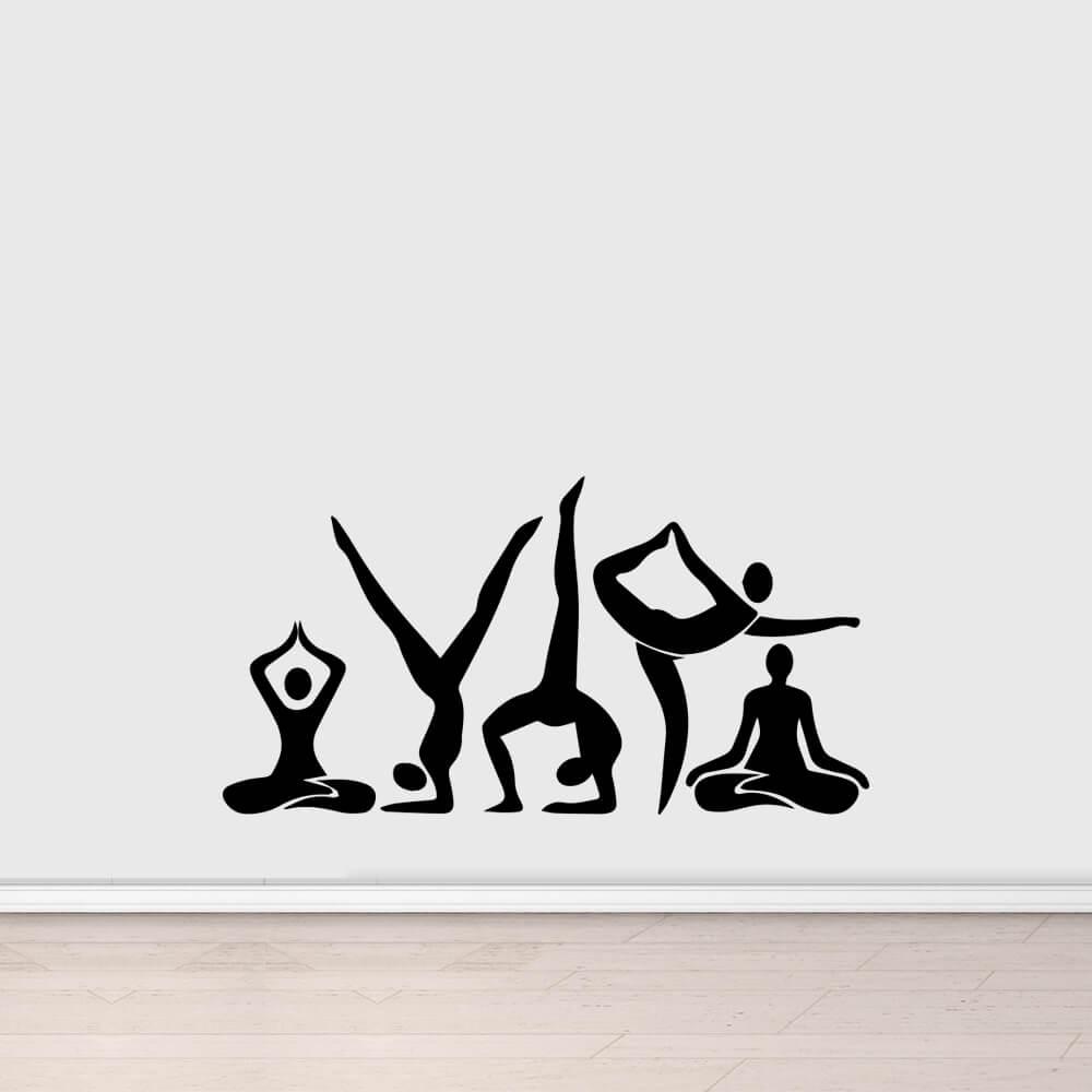 Adesivo de Parede Yoga