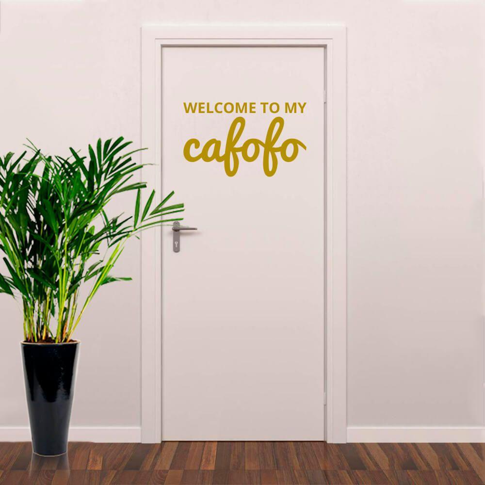 Adesivo de Porta Bem vindo - Welcome to My Cafofo