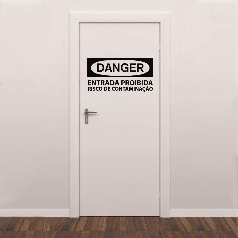 Adesivo de Porta Danger - Entrada Proibida