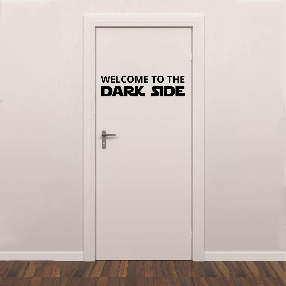 Adesivo de Porta Welcome to The Dark Side