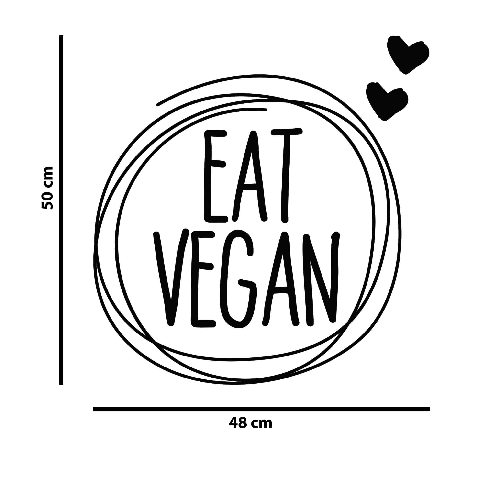 Adesivo Decorativo de Parede Eat Vegan
